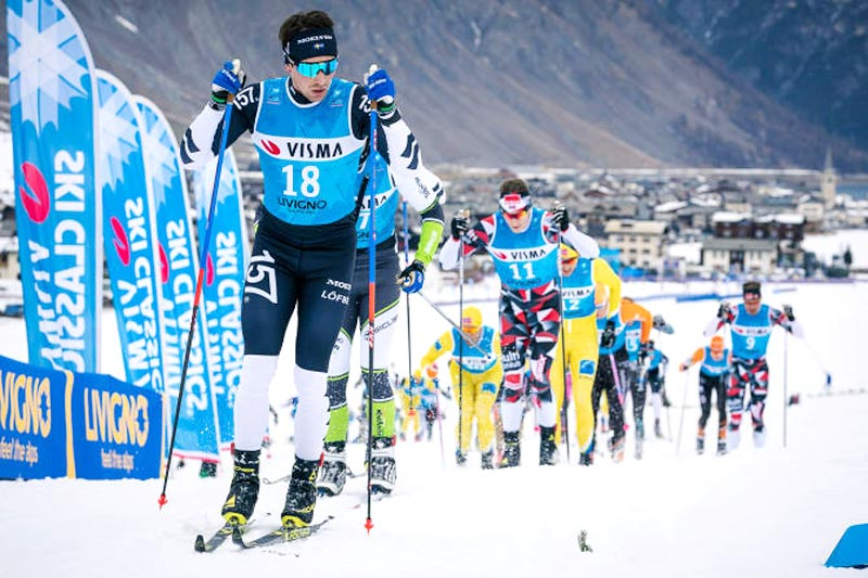 Hovedfeltet i Visma Ski Classics under sesongåpning i Livigno et tidligere år. Foto: Magnus Östh / Visma Ski Classics.