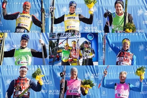 Trøyevinnere i Visma Ski Classics sesongen 2018/2019. Foto: Magnus Östh.