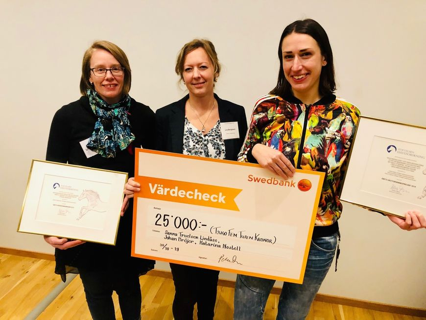 Jenny Yngvesson, Lina Bengtsson og Sanna Truelsen Lindåse. Foto: Carin Wrange