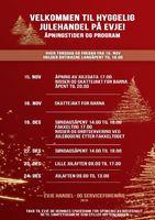 Program for handelsstanden på Evje november-desember 2019