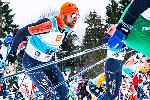 Racefox-ambassadør Tord Asle Gjerdalen går skirenn med Polar pulsklokke og analyserer data og informasjon ved hjelp av Racefox i etterkant. Foto: Racefox / Marina El Jaouhari.