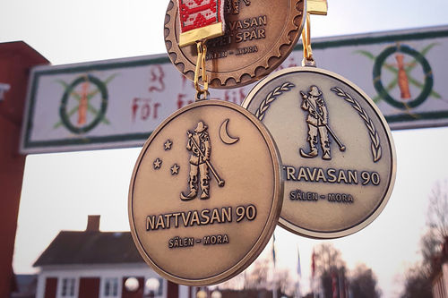 Medaljer i Vasan. Foto: Vasaloppet.