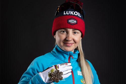 Natalia Nepryaeva. Foto: GEPA-pictures / WSC Seefeld 2019 / NordicFocus.