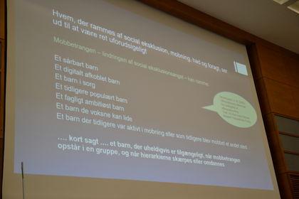 Dorte Søndergaard ppt om mobbing