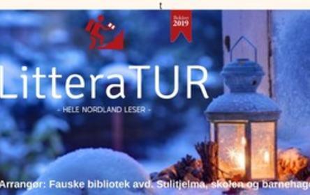 2 kutta Bli med på LitteraTUR vinter Sulis plakat