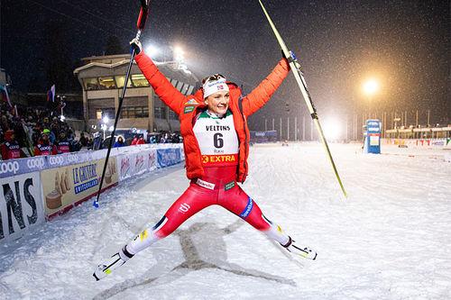 Maiken Caspersen Falla. Foto: Modica / NordicFocus.