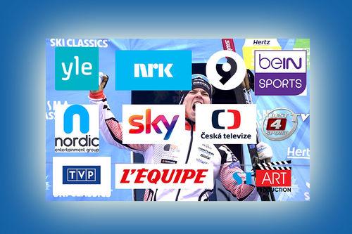 TV-stasjoner som i 2019-2020 sesongen viser langløpscupen Visma Ski Classics. Foto og montasje: Visma Ski Classics og Langrenn.com.
