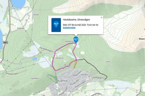 Stikk UT skaper aktivitet i skiløypene. Grafikk fra Løyper.net.