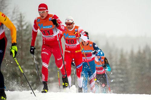 Verdenscupstafett i langrenn på Lillehammer. Foto: Thibaut/NordicFocus.