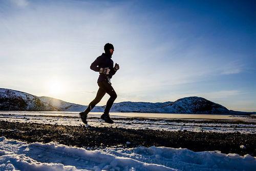 Fra Polar Circle Marathon som gjennomføres ved Kangerlussuaq på Grønland. Foto: Albatros Adventure Marathons.