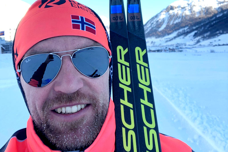 Tord Asle Gjerdalen på plass under åpningen av Visma Ski Classics i Livigno sesongen 2019-2020. Foto: Privat.