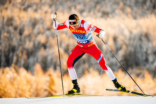 Emil Iversen på 2. etappe av Tour de Ski 2019-2020. Foto: Modica/NordicFocus.