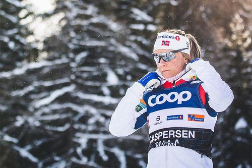 Maiken Caspersen Falla på Tour de Ski 2019-2020. Foto: Modica/NordicFocus.