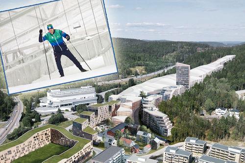 Wang Romerike holder til ved den nye SNØ-hallen i Lørenskog, like nordøst for Oslo. Foto: Wang Romerike.