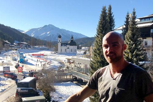 Tord Asle Gjerdalen på plass i Seefeld i forbindelse med Kaiser Maximilian Lauf som inngår i Visma Ski Classics også i sesongen 2019-2020. Foto: Privat.
