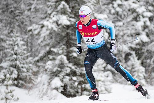 Simen Sveen ute i verdenscupen da den gjestet Beitostølen høsten 2018. Foto: Modica/NordicFocus.