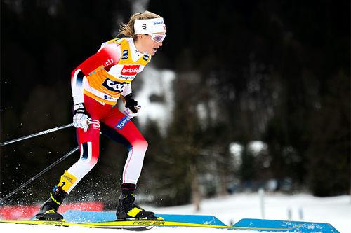 Therese Johaug innfridde til det fulle både på distanse og i sprint under helgens prøve-VM i Oberstdorf. Foto: Thibaut/NordicFocus.