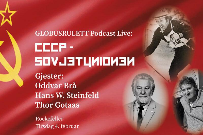 Oddvar Brå og Thor Gotaas er klare for Globusrulett Live sammen med Hans Wilhelm Steinfeld, Gunnar Garfors og Thorkild Gundersen på Rockefeller i Oslo 4. februar 2020.