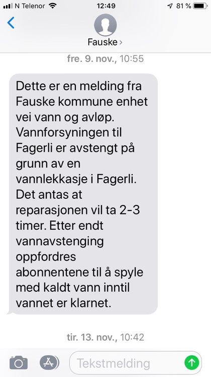 SMS-varsling - Befolkningsvarsel
