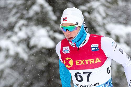 Harald Østberg Amundsen sitter i førersetet blant herrene foran neste runde i Norgescup 2019-2020. Foto: Modica/NordicFocus.