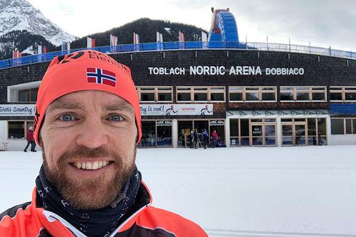 Tord Asle Gjerdalen i forbindelse med Visma Ski Classics-rennet Toblach-Cortina sesongen 2019-2020. Foto: Privat.