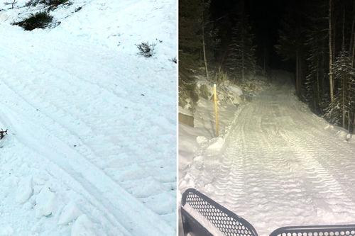 Noen dager i forkant av Vindfjelløpet 2020 gjøres det en real dugnad med å jevne ut samt fylle på snø i eventuelt utsatte områder i årets utfordrende vinter. Natt til renndagen settes sporene. Foto: Vindfjelløpet.
