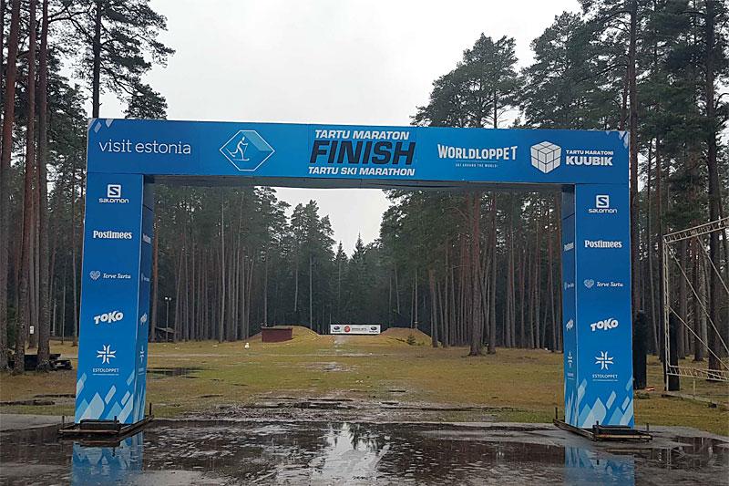 Lite egnede forhold for skiløping foran vinterens utgave av Tartu Maraton i Estland. Foto: Lennart Pruuli.