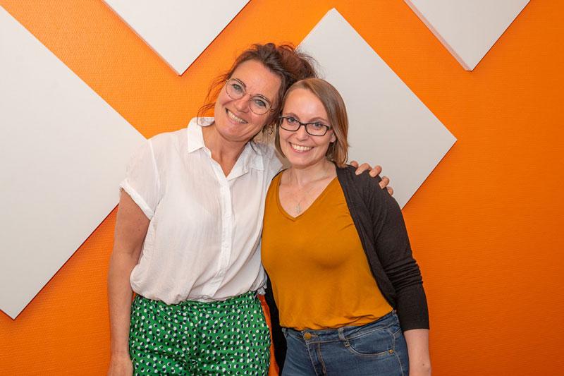 Prosjektleder i KRAFT Marit Svalastog (tv) og trainee Maren Sandbakk. Foto: Hege Dorholt.