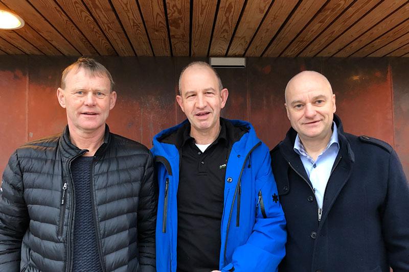 Erling Skoe, Peter van Heerebeek og Terje Mognes. Foto: Mikkel Helweg.