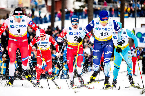 Langrennsløpere i verdenscupen. Foto: Modica/NordicFocus.