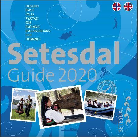 Forside Setesdalguide 2020 - norsk og engelsk