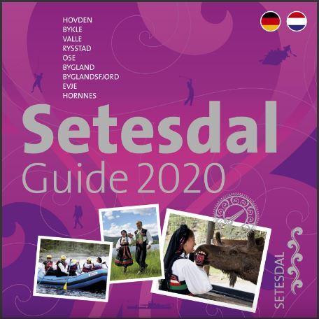 Forside Setesdalguide 2020 - tysk og nederlandsk