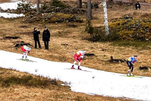 Lite snø i verdenscupløypene i Falun 2020. Foto: Modica/NordicFocus.
