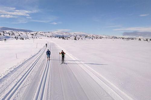 Bildet er tatt 4 dager i forkant av Hafjell Ski Marathon 2020. Som man ser, det er særdeles innbydende forhold i Øyerfjellet. Arrangørfoto.