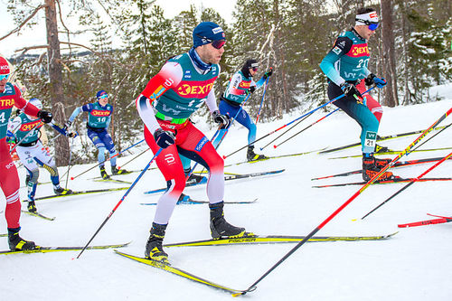 Martin Johnsrud Sundby på Meråker-etappen av Ski Tour 2020. Foto: Thibaut/NordicFocus.