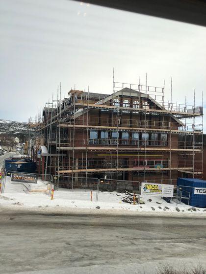 bilde av byggeplassen