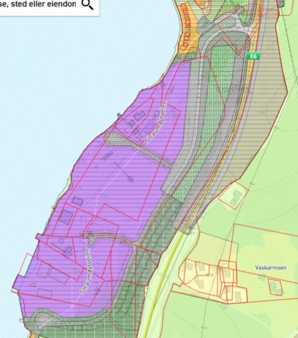 Skjermbilde av planområde Sysselvika