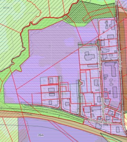 Skjermbilde av planområde Søbbesva