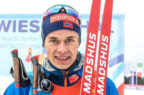 Harald Østberg Amundsen på U23-VM 2020 i Oberwiesenthal. Foto: Flyingpointroad.com.