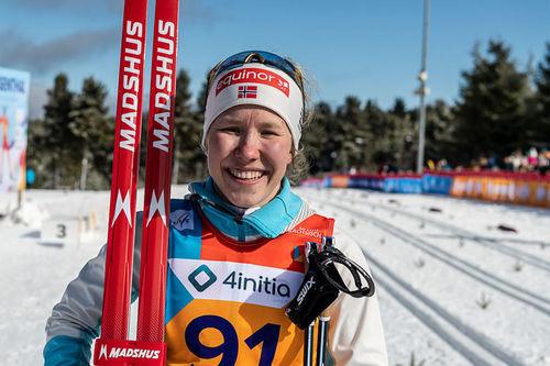 Helene Marie Fossesholm på Junior-VM 2020 i Oberwiesenthal. Foto: Flyingpointroad.com.