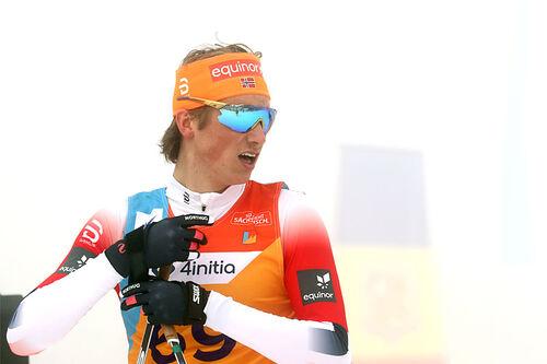 Lars Agnar Hjelmeset på Junior-VM 2020 i Oberwiesenthal. Foto: Erik Borg.