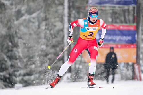 Hedda Østberg Amundsen under U23-VM 2020 i Oberwiesenthal. Foto: Marko Unger / Studio2media.