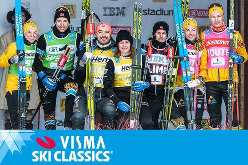 Trøyevinnere i Visma Ski Classics 2019-2020. Foto: Magnus Östh/Visma Ski Classics.