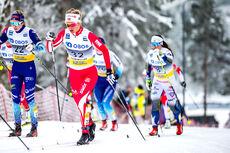 Kathrine Harsem i rødt. Foto: Modica/NordicFocus.