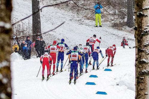 Pål Golberg fører an i feltet under verdenscupen. Foto: Modica/NordicFocus.