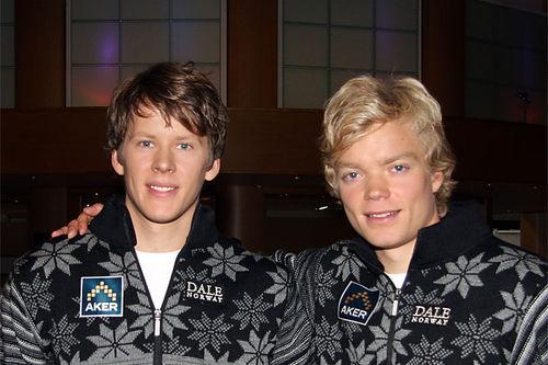 De jevngamle oslogutta Anders Gløersen og Eirik Brandsdal utgjorde i mange år et par av pilarene i sprintlandslaget. Her fra et arrangement i forkant av den fremgangsrike 2012-sesongen. Foto: Geir Nilsen/Langrenn.com.