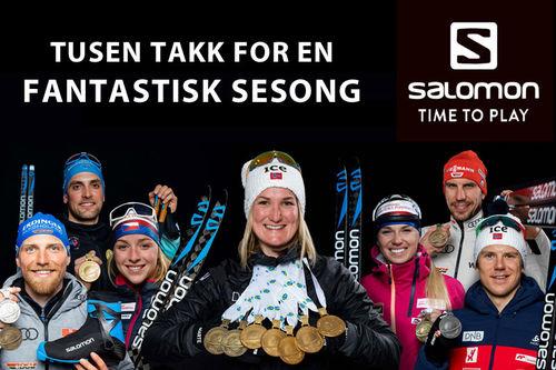 Salomon takker for en fantastisk og fremgangsrik sesong for dem og deres løpere vinteren 2019-2020.