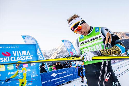 Stian Berg i Visma Ski Classics-rennet Toblach-Cortina. Foto: Modica/NordicFocus.