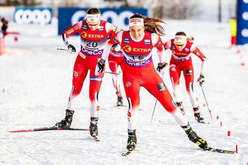 Kristine Stavås Skistad er et av Konnerud ILs mange sterke navn. Bildet er fra konkurransen hvor hun gikk inn til 4. plass i verdenscupsprinten på hjemmebane i 2020. Foto: Modica/NordicFocus.