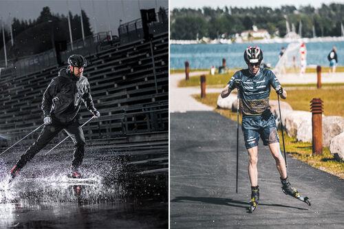 Supersprinteren Ludvig Søgnen Jensen og milslukeren Eirik Mysen er to av stadig flere skiløpere på utstyr fra Standardski.no og FF Rollerskis.